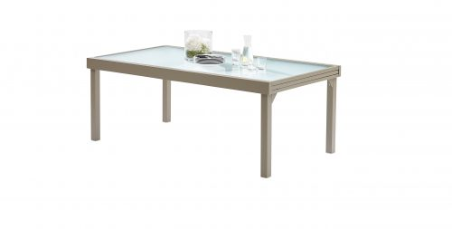 Table Modulo Verre Encadré Taupe