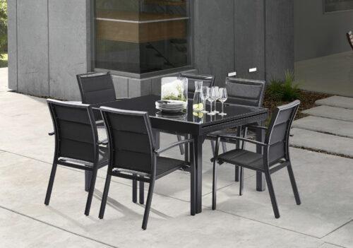 Table de Jardin Béton Ciré (200x95x75) - Wilsa